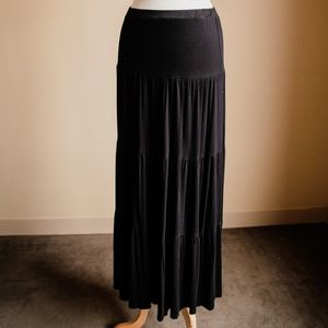 Xhilaration Black Ruffled Skirt